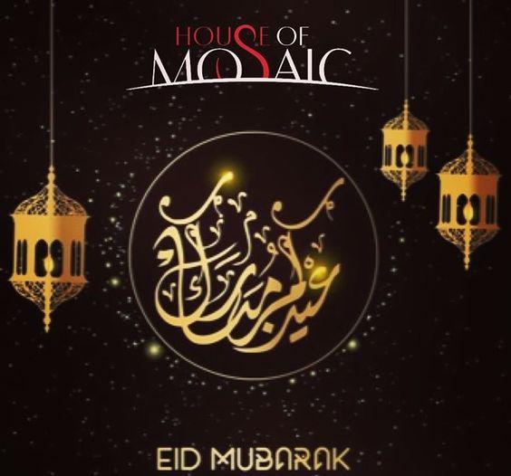 We Wish All Our Muslim Friends Around The World A Happy And Peaceful Eidmubarak Houseofmosaic Aruba Eid Greetings Eid Mubarak Mosaic