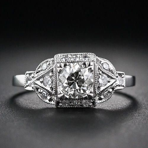This Is The Most Awesome Vintage Jewelery Store In San Francisco This Is A 60 Carat Ar With Images Vintage Engagement Rings Antique Engagement Rings Deco Engagement Ring