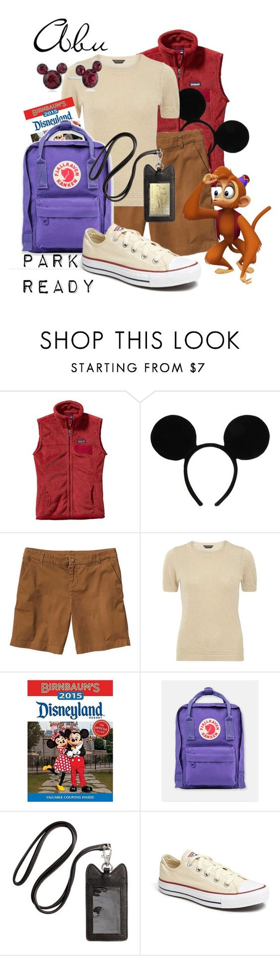 """""""Abu: Park Ready"""" by laniocracy on Polyvore featuring Patagonia, Disney, Dorothy Perkins, Fjällräven, H&M, Converse and disneyland"""
