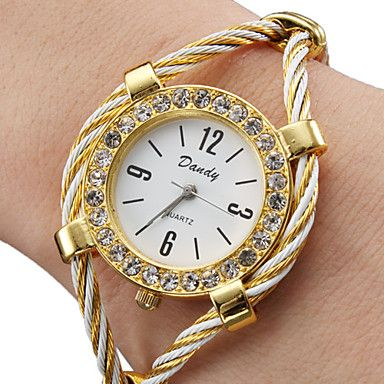Beautiful Bracelet Style Lady's Crystal Wrist Watch $4.57 + Free Shipping
