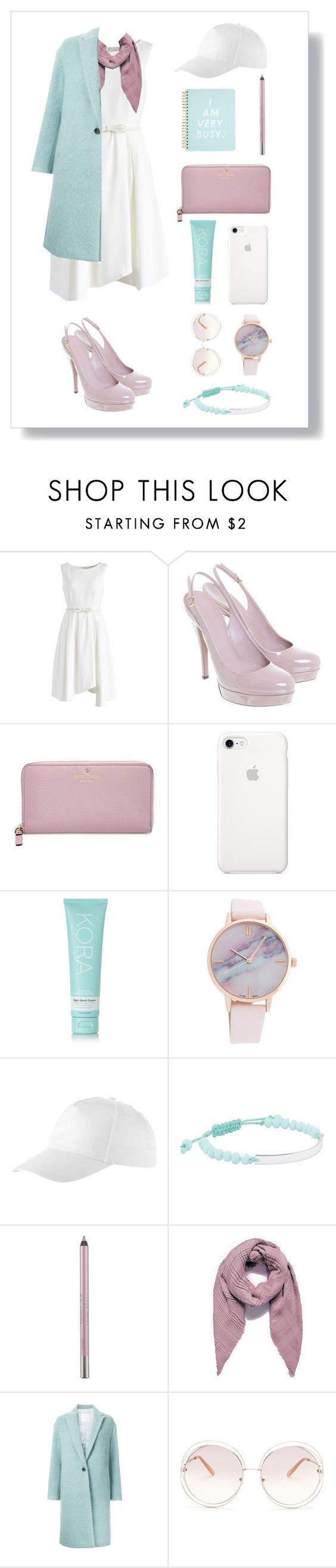 """Little white dress 🌼"" by xanniee ❤ liked on Polyvore featuring Chicwish, Gucci, Kate Spade, KORA Organics by Miranda Kerr, Witchery, Urban Decay, CITYSHOP and Chloé"