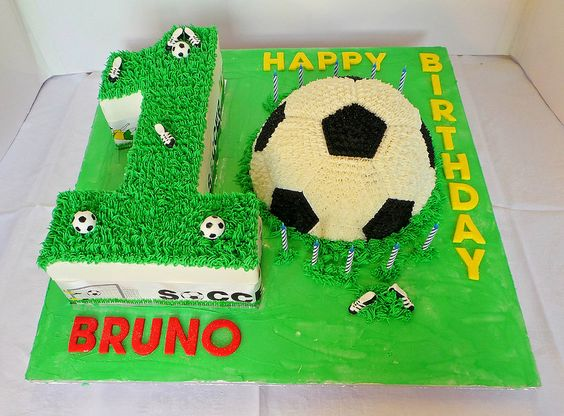 Soccer Themed Birthday Cakes