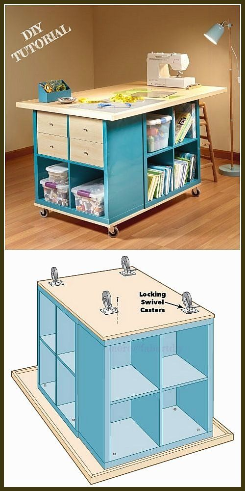Ikea Kallax Dice Crafting Desk Diy Tutorial In 2020 Craft Table