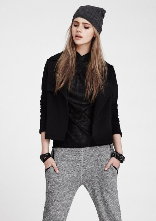 The cozy tomboy u2026.sweatpant and beanie | ITu0026#39;S ALL STYLE | Pinterest | Grey Searching and Style