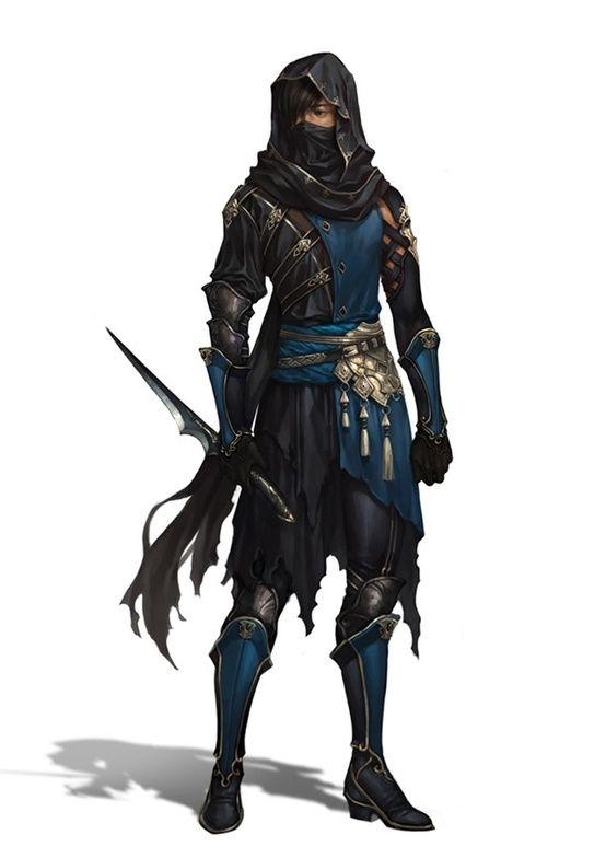 Rogue. Assassin. Thief. Desert inspiration. Blue Tabbard. Face mask with hood. Darlois (Firebrand Trilogy) http://kyradune.weebly.com/firebrand-trilogy.html