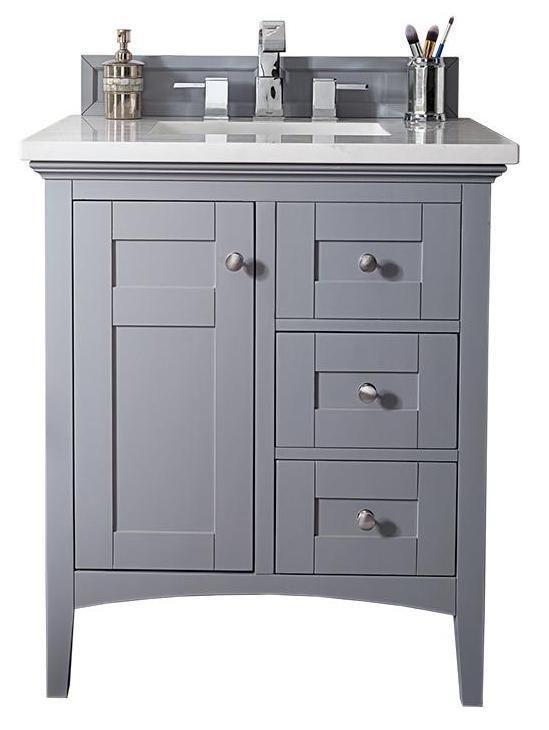30 Palisades Silver Gray Single Sink Bathroom Vanity Bathroom