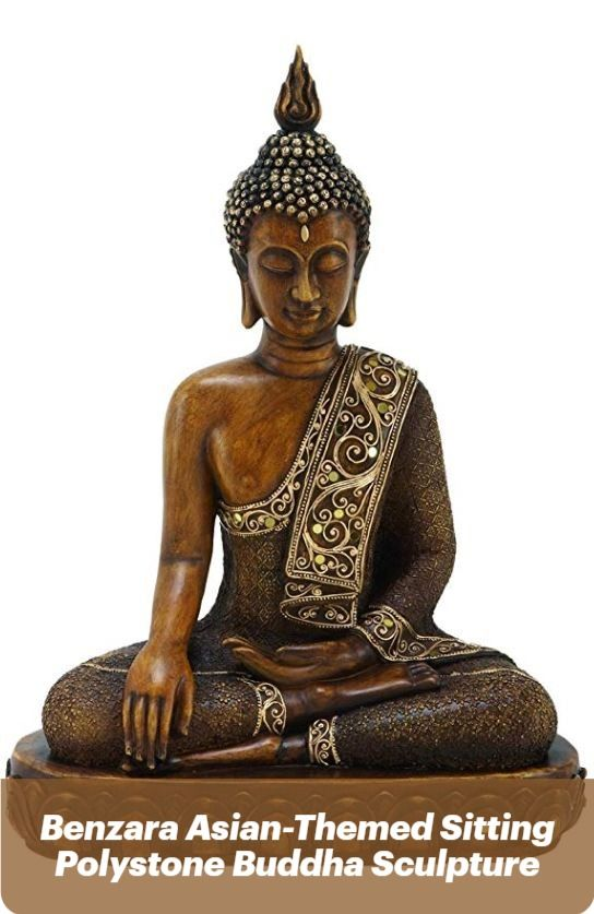 Benzara Polystone Sculpture 15 By 12 Textured Bronze Buddha Statue Home Decor Living Rooms Buddha Statue Home Buddha Statue Buddha Sculpture