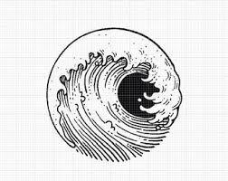 Bildresultat för japanese wave tattoo