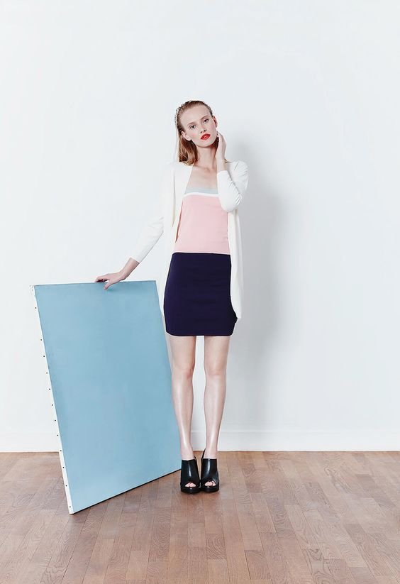 KNITSS SS16 - Berford Top, Madison Solid Skirt, Daytime Cardigan