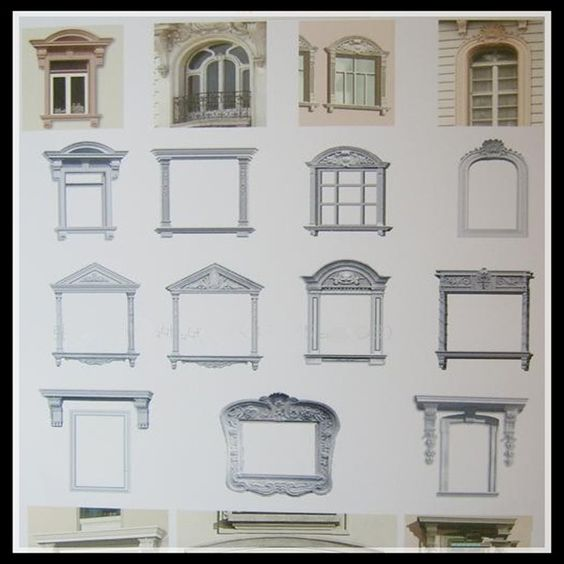 Grc window frame window surround decoration moulding for Window design cement