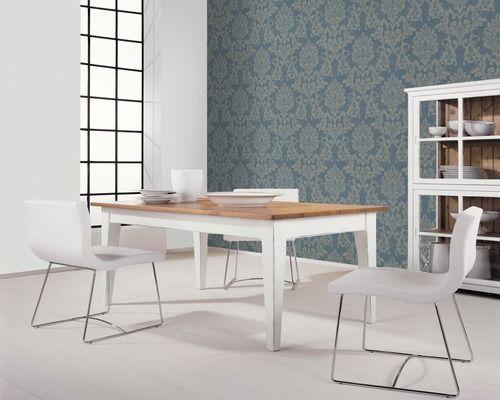 Vliestapete 56154 Padua Streifen blau-silber Tapeten Pinterest - tapeten für schlafzimmer bilder