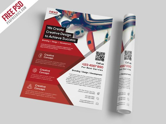 Download Business and Corporate Flyer Template Free PSD.This ...