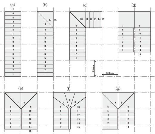 階段形状v2 インテリアデザインのスケッチ 階段 図面 階段