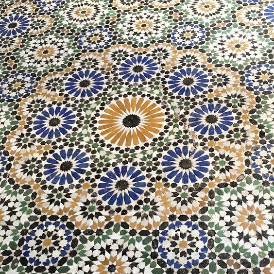 Maroccan splendour at the Bahia Palace, the grand mansion built by slave-turned-vizier Abu Ahmed. #connoisseurgoeslamamounia #marrakech #mosaic #lamamounia #pederlamm