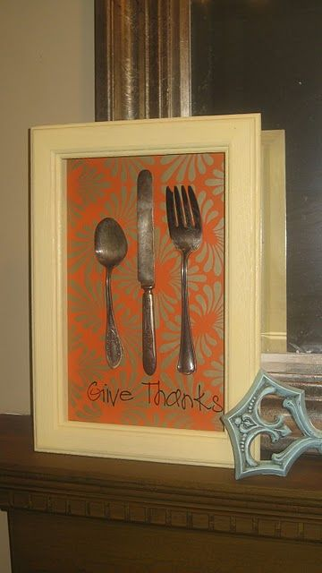 easy DIY thanksgiving shadow box