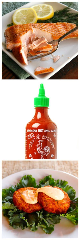Sriracha Seared Salmon Cakes - Spicy delicious salmon cake recipe with herbs…