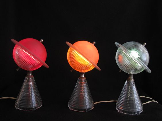 1939 Ny Worlds Fair Saturn Lamps I Actually Have One Of These That Was My Parents Retro Vintage Canetas De Luxo