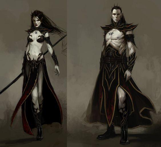 Original Dark Elf Sorcerer and Sorceress