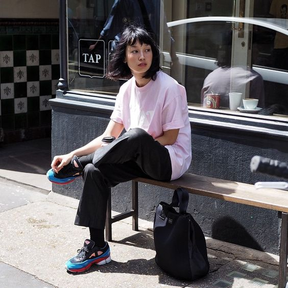 Ladies in streetwear: @thekilladetail #rafsimons