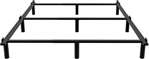 New Ziyoo Adjustable Metal Bed Frame Box Spring Heavy Duty 9 Leg