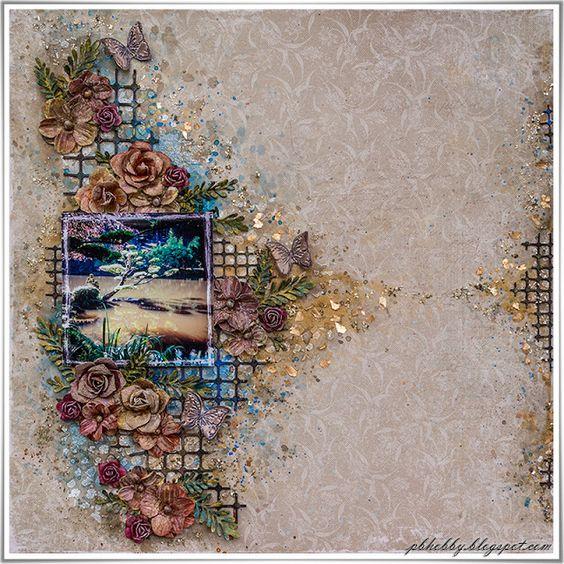 Oriental Garden - New kit for The Scrapbook Diaries