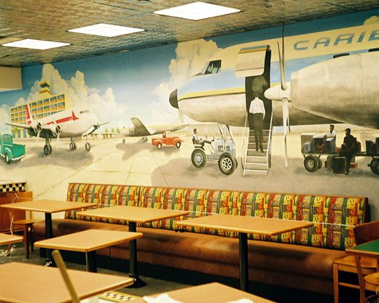 This restaurant mural painted in a new eatery at san juan for Mural restaurant