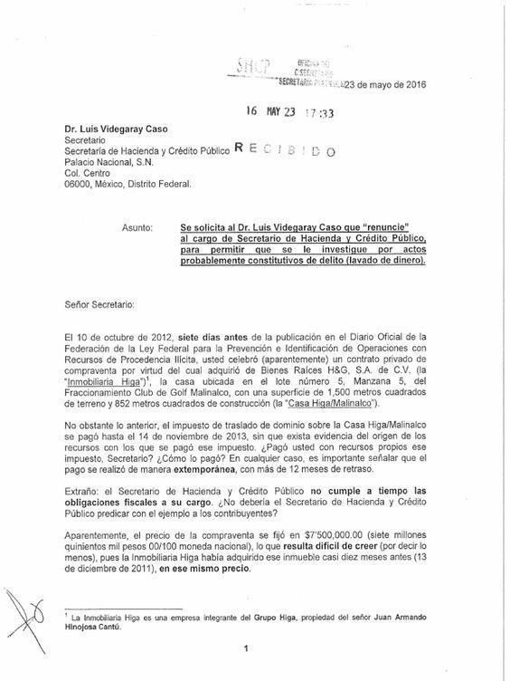 I'm reading Solicitan renuncia de Videgaray por compra de casa en Malinalco on Scribd