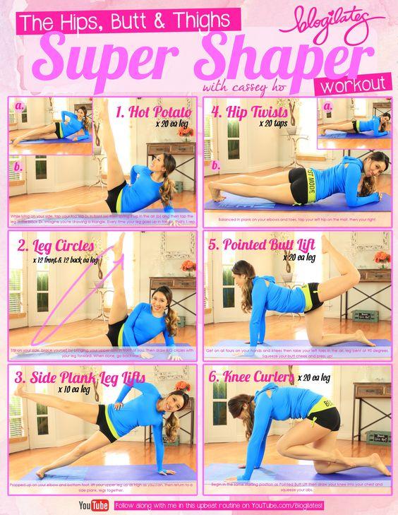 Hips Butt & Thighs Super Shaper Workout | Printables & Tips ...