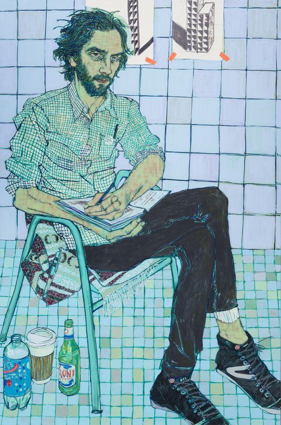 Hope Gangloff - Ballpoint Pen Art - Figurative Painting - 2015: