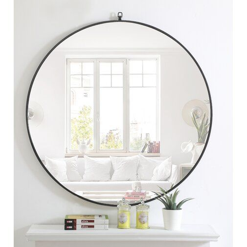 Ariella Modern And Contemporary Distressed Accent Mirror Black Round Mirror Mirror Over Fireplace Black Wall Mirror