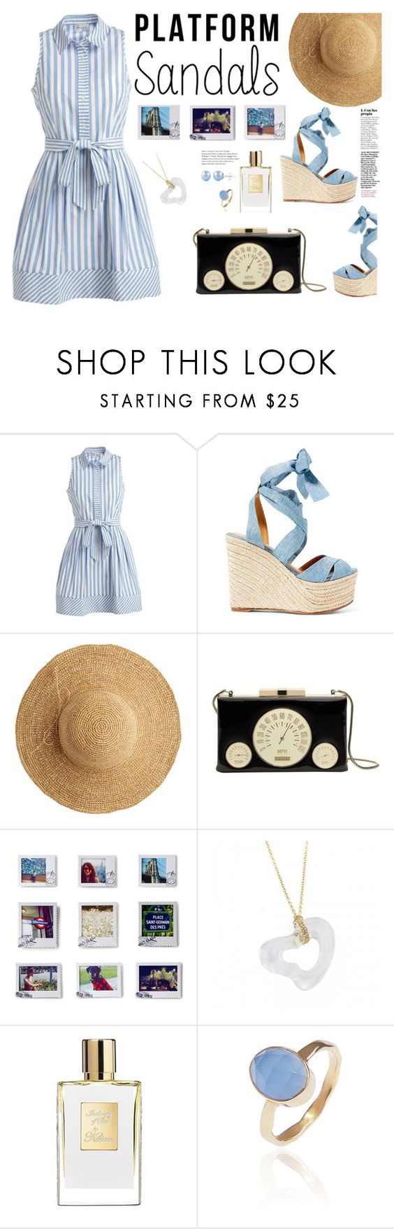 """""""Stand Up! Platform Sandals"""" by syavina on Polyvore featuring Milly, Ralph Lauren, Flora Bella, Kate Spade, Dot & Bo, Tiffany & Co., Latelita, platforms, contestentry and polyvoreeditorial"""