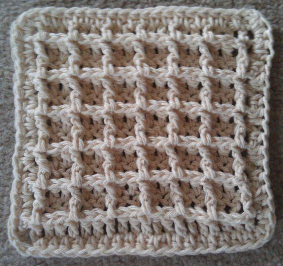 Waffle Crochet Dishcloth By Chip Flory - Free Crochet Pattern - (ravelry)