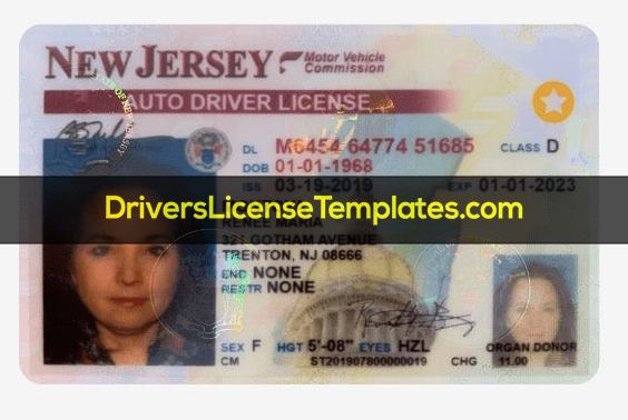 New Jersey Drivers License Template Psd 2020 Drivers License New Jersey Driver License Online