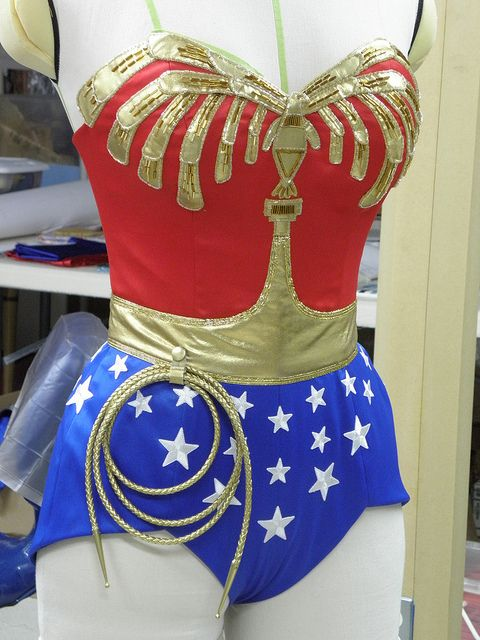 Wonder woman pants costume-2628
