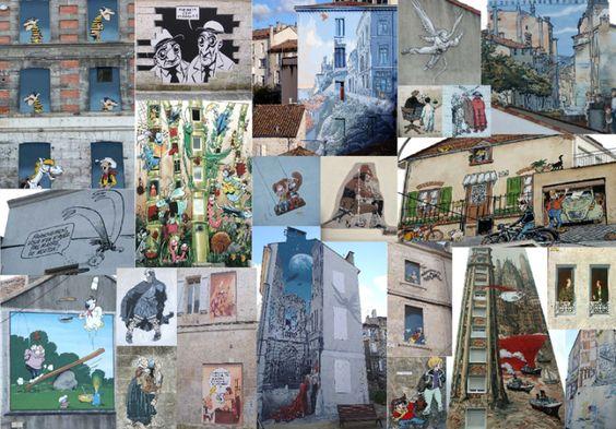 Les murs peints sur les façades dans la ville #Angouleme #France #Charente #BD #bandedessinee #personnages #dessins