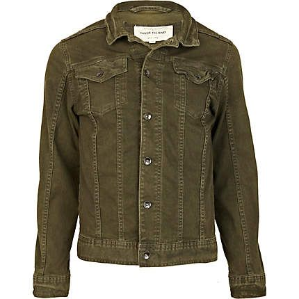 Green denim jacket £25.00 | JACKETS / DENIM / LEATHER / ALL KINDS