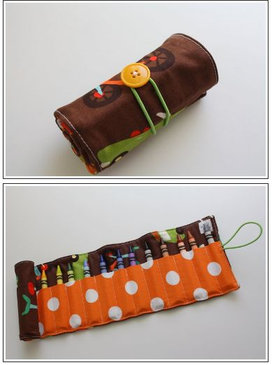 How To Create a Crayon Roll~~enlarge or whatever to make a crochet hook roll