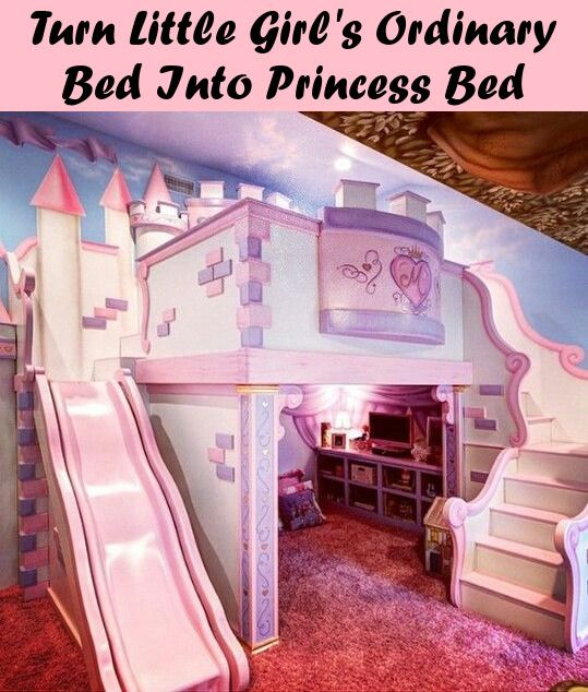 Turn Your Little Girl S Ordinary Bed Into A Disney Princess Bed Castle Bedroom Kids Bed For Girls Room Cool Kids Bedrooms
