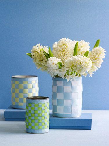 Basket weave vase craft