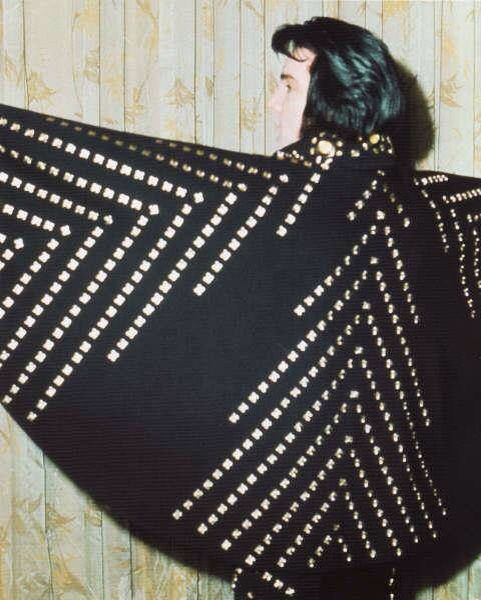 Elvis black pyramid cape