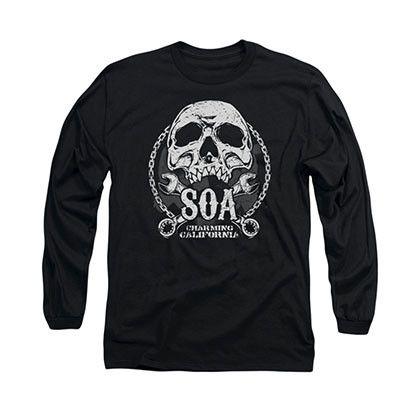 Sons Of Anarchy SOA Club Black Long Sleeve T-Shirt