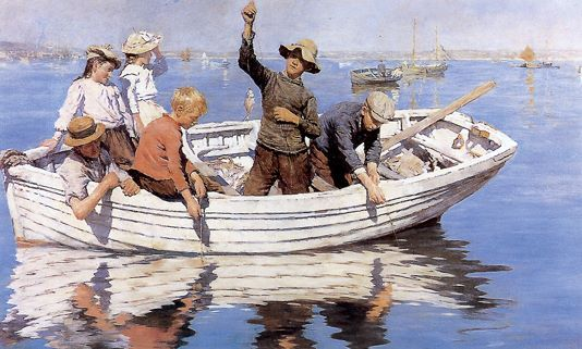 Chadding on Mount's Bay Oil on canvas by Stanhope Alexander Forbes (British 1857-1947) Date painted: 1902 Collection: Worcester City Museums