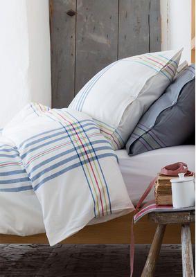 Karierter Bettbezug aus Baumwolle, 150 x 200 cm 54110-61.jpg