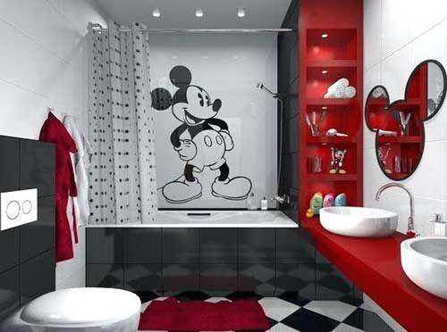 Pin On Projetos Para Experimentar Disney mickey mouse bathroom decor