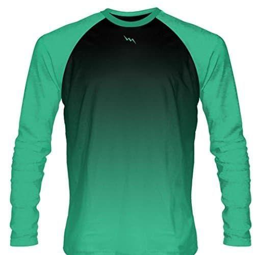 Up a Creek Bear in a Canoe dip-dye Long Sleeve Mens Green Graphic tee Shirt