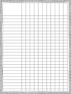 Checklist Grid Template Blank Class List Template  Finally, a cute lesson plan template. It looks crooked