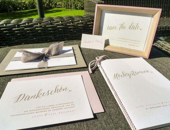 Impressiona Letterpress Hochzeitskarten Scriptura