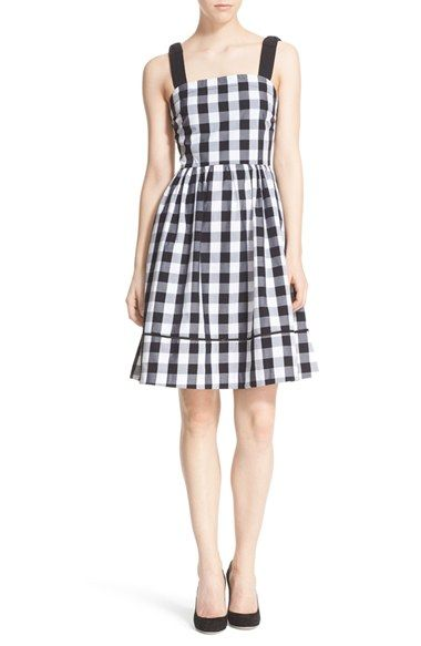 kate spade new york gingham fit & flare dress