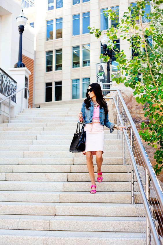 pink on pink & denim