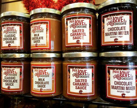 Who's feeling saucy? #sauce #chocolatesauce #caramelsauce #saltedcaramel #chocolate #milkchocolate #classic #caramel #martinimix #housemade #boulder #colorado #saucy